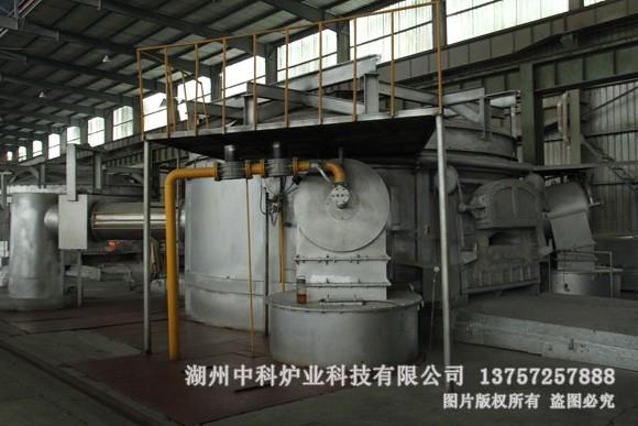 大型燃气铝合金熔炼炉